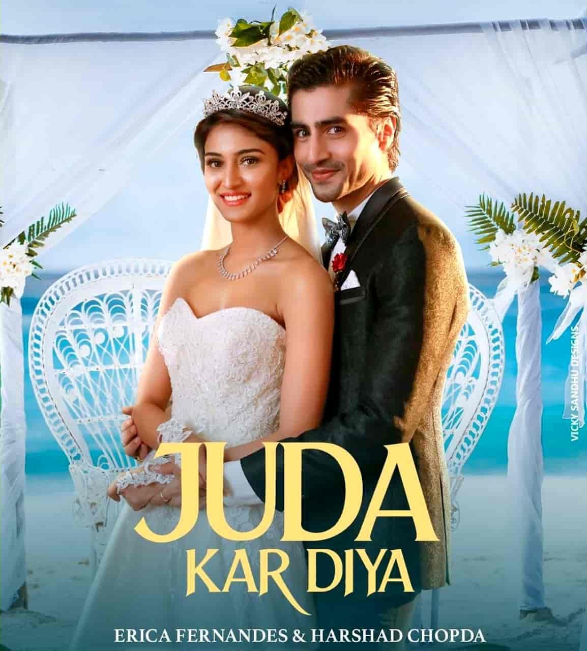Juda Kar Diya Hindi Song Image Features Erica Fernandes and Harshad Chopda
