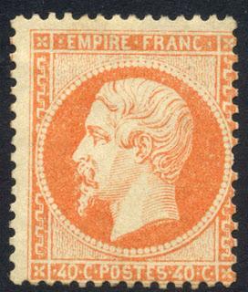 France & Colonies 1862 40c Napoleon III