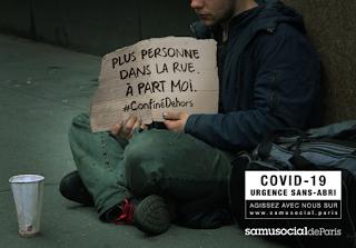 Campagne Samu Social Confinement Covid 19