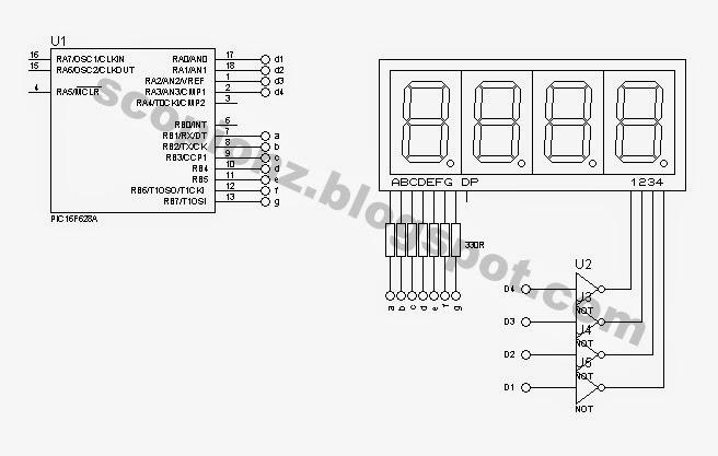 Seven Segment Display Connection Diagram