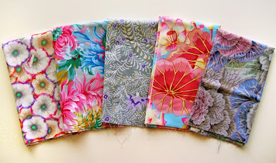 Robin Atkins, focal fabrics for next shimmer quilt
