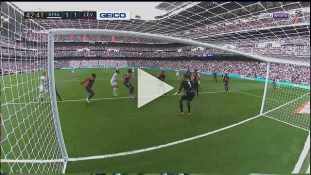 Video Real Madrid 1 - 1 Levante