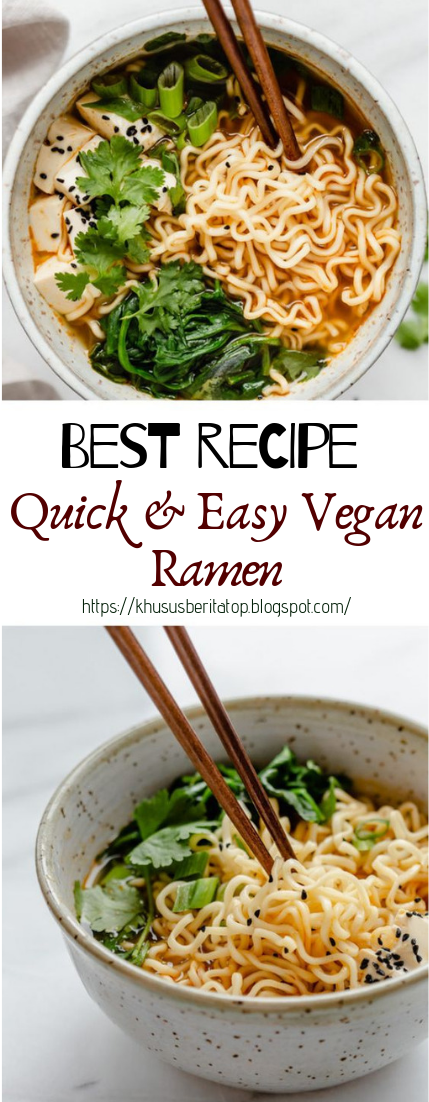 Quick & Easy Vegan Ramen #vegan #recipevegetarian #ramen #cook
