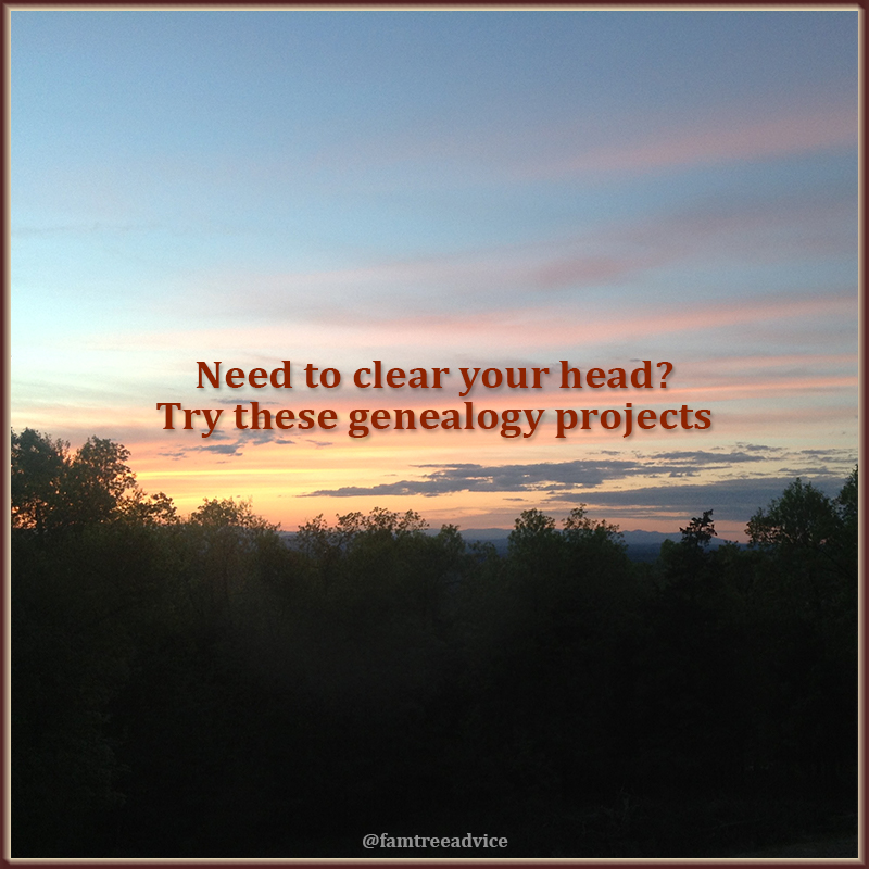 Genealogy is the perfect escape from all your troubles. Which project will you choose first?