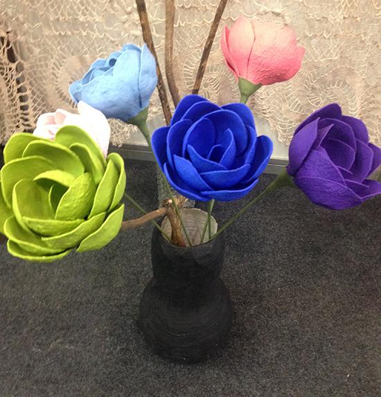 flores recicladas, vaso de flores, a casa eh sua, acasaehsua