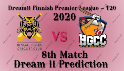BTC vs GHG Dream11 Team Prediction | Bengal Tigers CC vs Helsinki Gymkhana