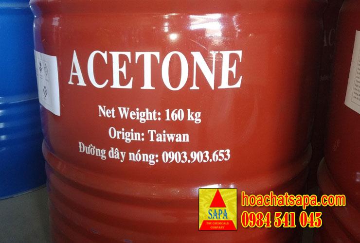 Dung môi ACETONE (hàng bồn đóng phuy giá rẻ)