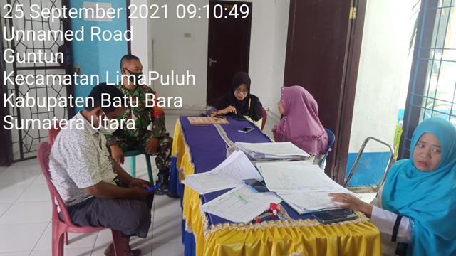 Himbau Protkes Tetap Diterapkan, Personel Jajaran Kodim 0208/Asahan Laksanakan Komsos Dengan Perangkat Desa
