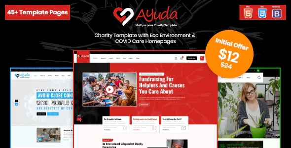 Best Multipurpose Charity HTML Template