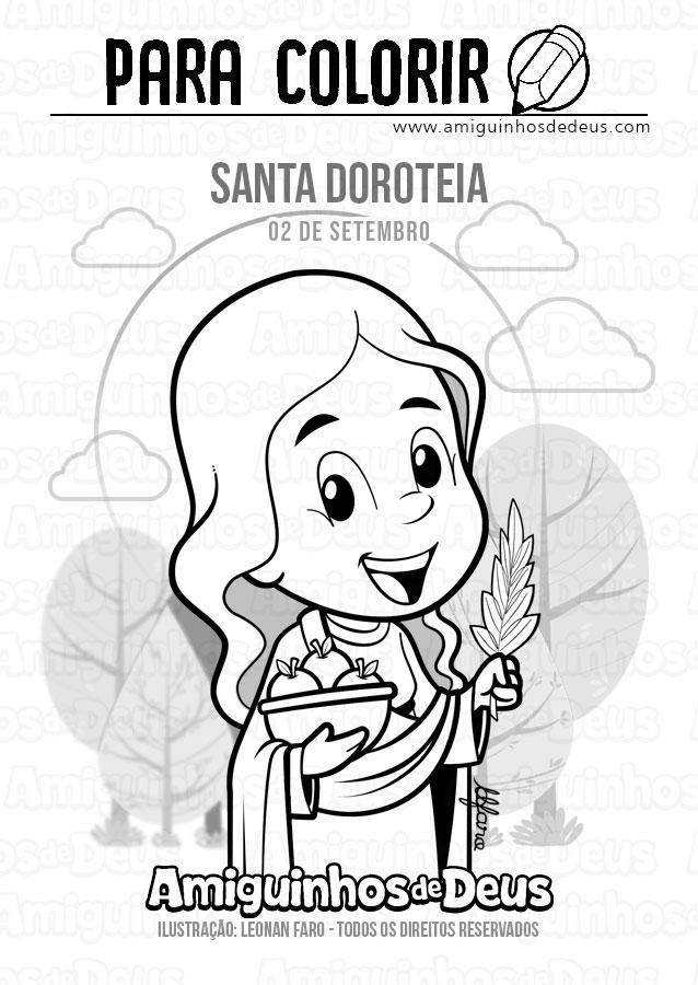 Santa Doroteia desenho para colorir