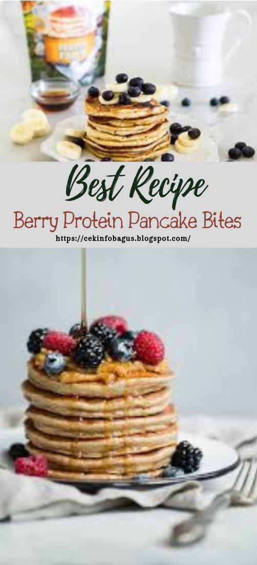 Berry Protein Pancake Bites #desserts #cakerecipe #chocolate #fingerfood #easy