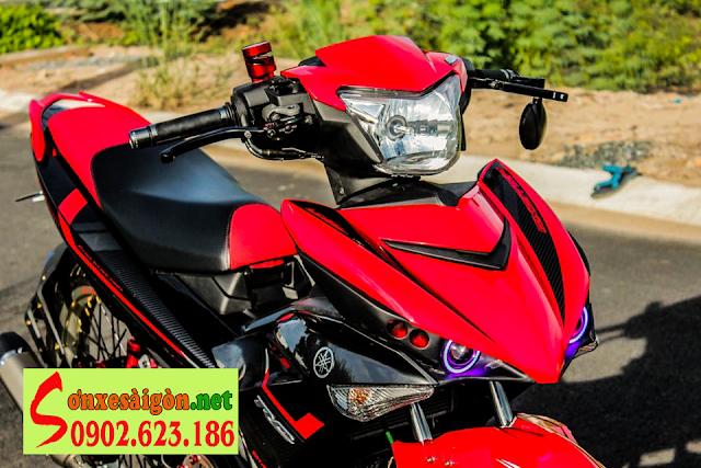 Sơn xe Exciter 150 màu đỏ đen cực đẹp