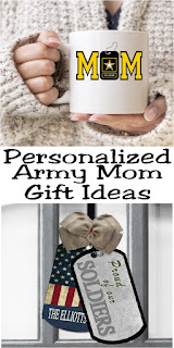 Shout your Army Mom pride from the rooftops with these Army Mom gift ideas personalized with your name and lots of love.  The small businesses of Etsy are perfect at making your soldier feel a little closer with everything from necklaces to mugs to wall hangings.