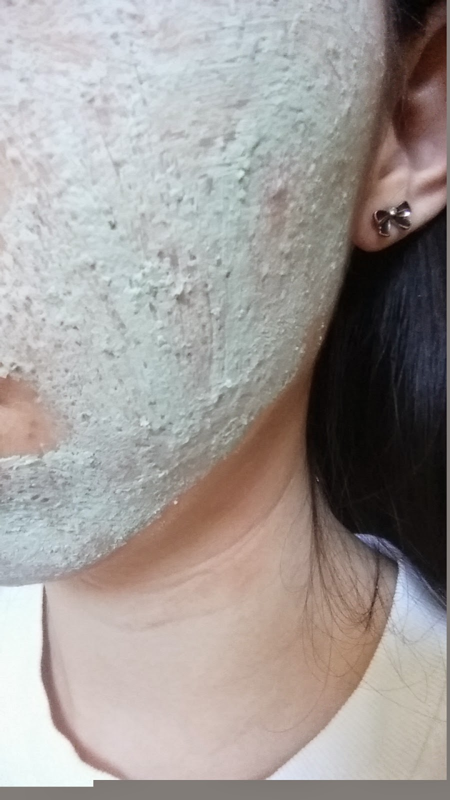 clay mask on my face