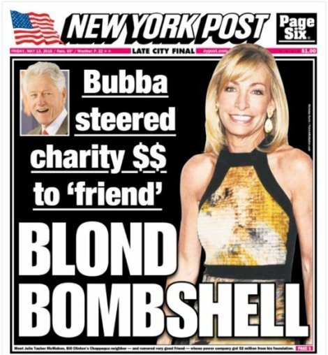 "Bubba steered charity $$ to ""friend"" Blonde Bombshell"
