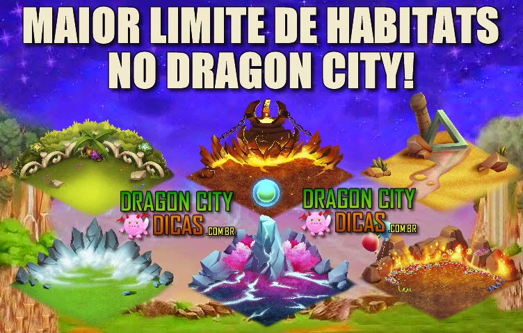 Maior Limite de Habitats no Dragon City!