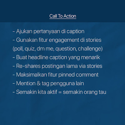 Call to action instagram bisnis