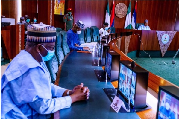 PHOTOS: Gambari, chief of staff, attends first FEC meeting