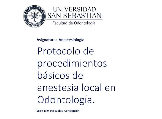 PDF: Protocolo de procedimientos básicos de anestesia local en Odontología