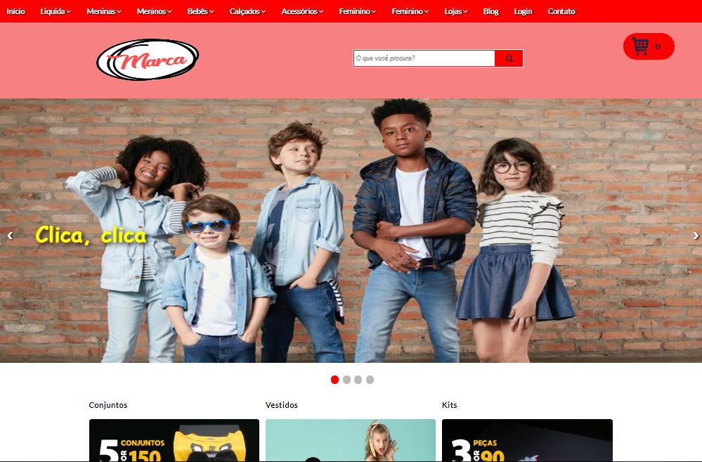Template Loja Virtual Moda Infantil Para Blogger com PagSeguro