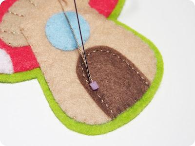 P1010105 - Casinha de Cogumelo em feltro