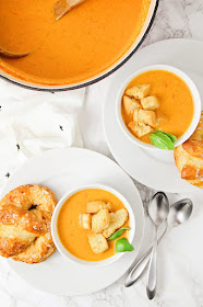 This creamy roasted tomato soup is made with fresh garden tomatoes, and so flavorful and delicious!