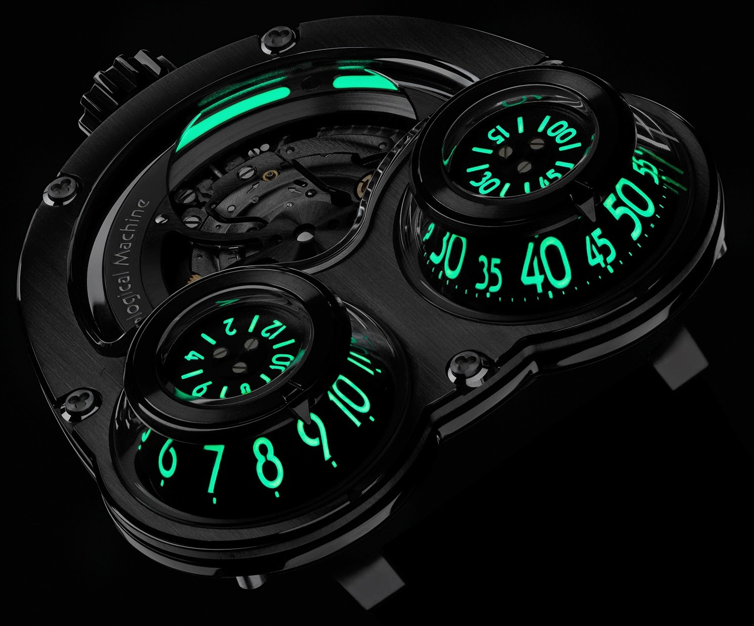 Montre MB&F HM3 MegaWind Final Edition Super-LumiNova