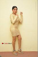 Actress Pooja Roshan Stills in Golden Short Dress at Box Movie Audio Launch  0136.JPG