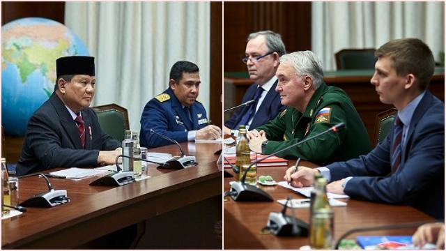 Bahas Kerja Sama Militer, Menhan Prabowo Bertemu Deputi Menhan Federasi Rusia