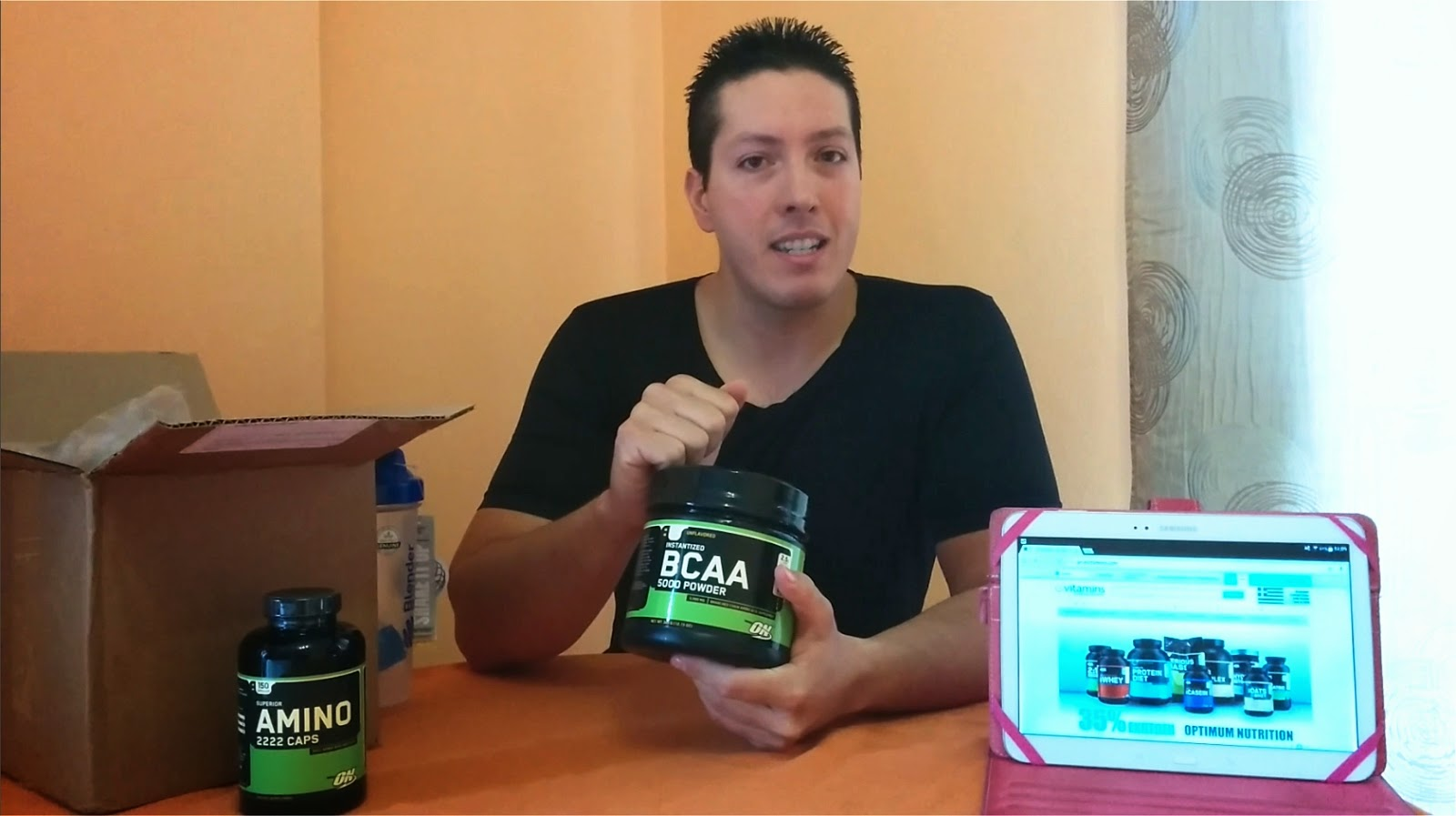 Unboxing evitamins - BCAA 5000 - Amino 2222 - Optimum Nutrition