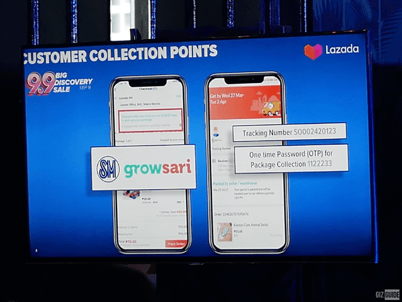 Collection points for Lazada