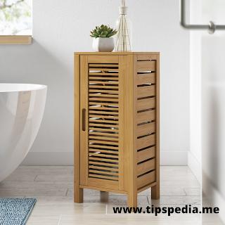 bamboo bathroom storage cabinet