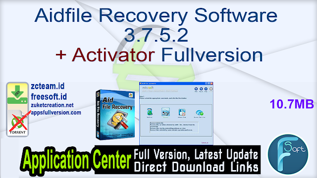 Aidfile Recovery Software 3.7.5.2 + Activator Fullversion
