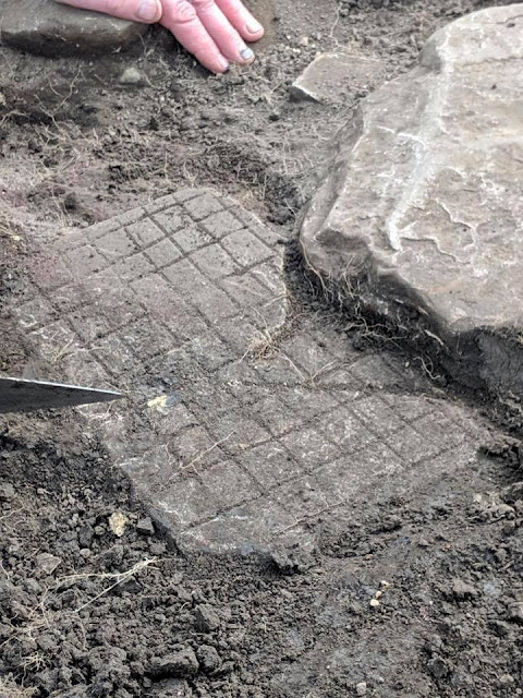 Roman gemstones, shoe and gaming board uncovered at Vindolanda fort