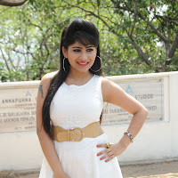 naughty exotic Madhulagna das fairy doll in short dress photos at new telugu movie launch event