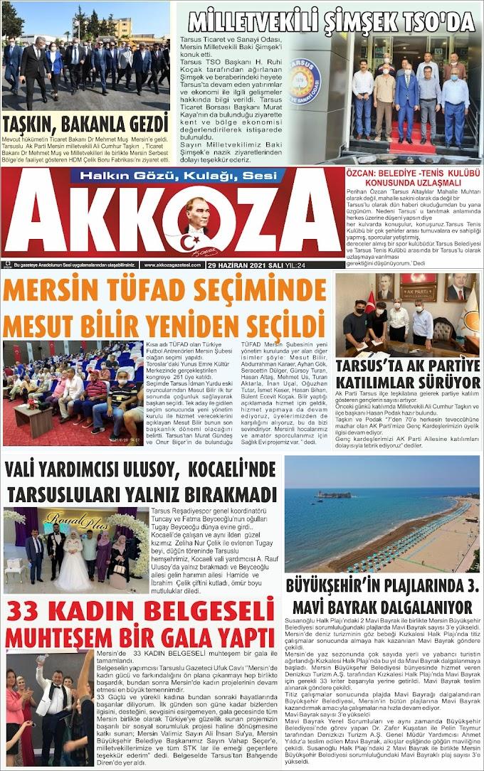 29 Haziran 2021 Salı Tarihli Gazetemiz