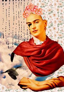Colagem Frida Kahlo por Maria Rosa