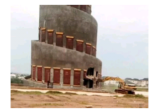 In imo state: Gov ihedioha. starts demolition of Akachi tower built by rescue mission