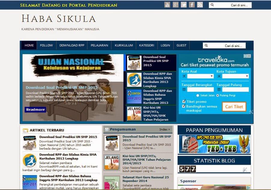 template blog sekolah terbaru