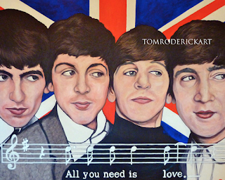 All you need is love Beatles Tribute by Boulder portrait artist Tom Roderick