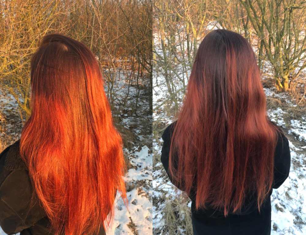 Rozjaśnianie hennowanych włosów u fryzjera