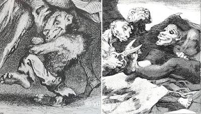 Les bêbêtes jumelles de Goya et Johannot