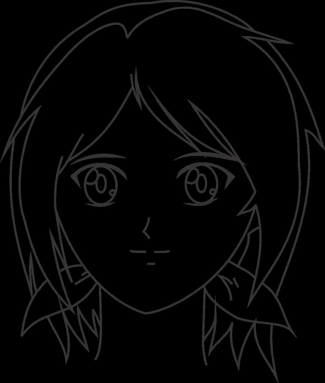 Cara menggambar wajah anime