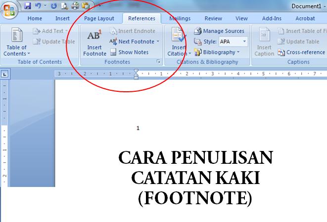 Cara Penulisan Footnote Catatan Kaki Yang Baik Muslimedia