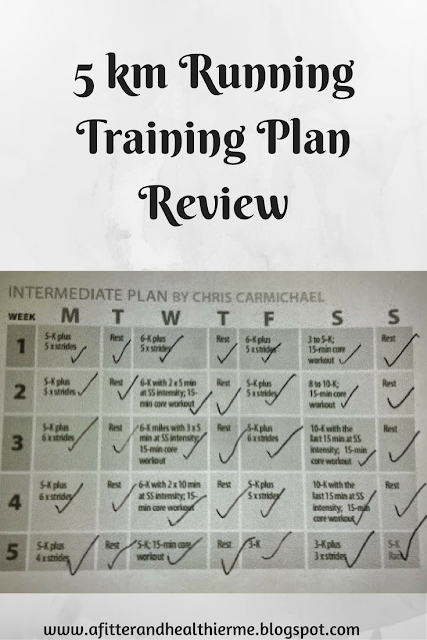 5km Running Training Plan Review