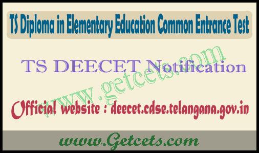 TS DEECET notification 2021-2022, dietcet apply online last date