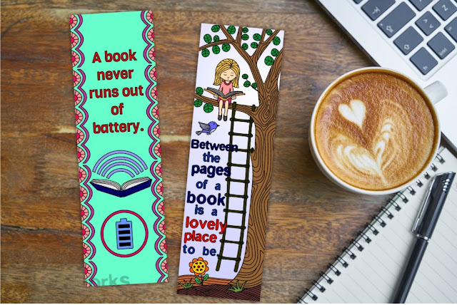 bookmarks with quotes on reading
