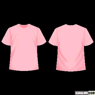 mentahan kaos polos pink lengan pendek PNG - kanalmu