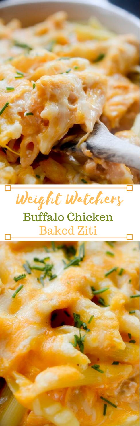 BUFFALO CHICKEN BAKED ZITI #dinner #easy #familyrecipes #food #chicken