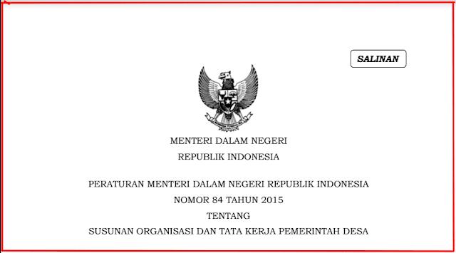 Bagan SOTK Pemerintah Desa Terbaru Sesuai Permendagri Nomor  Bagan SOTK Pemerintah Desa Terbaru Sesuai Permendagri Nomor 84 tahun 2015